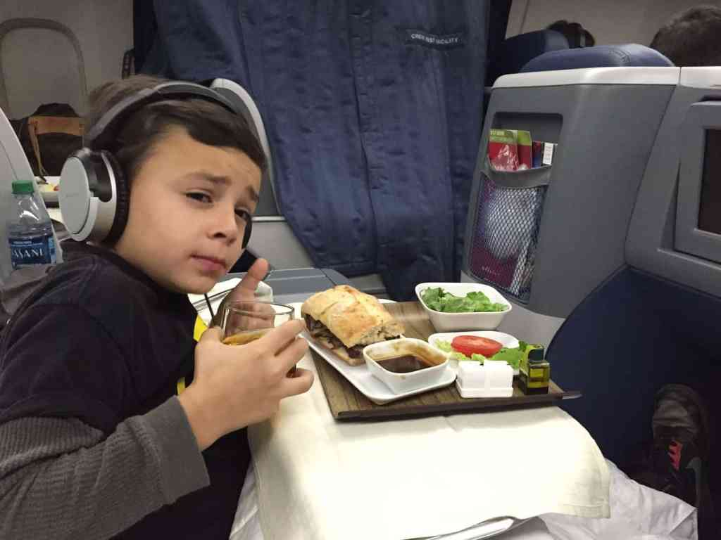 Delta First class with kids