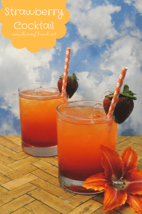 Strawberry Cocktail: Make our favorite Strawberry Cocktail that is ideal for a Luau party, girls night out, or perfect cocktail for a weekend BBQ!