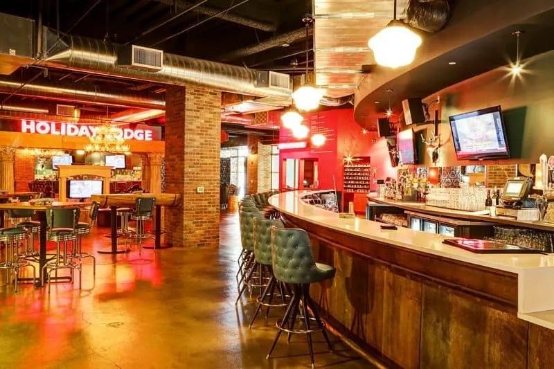 red bar at Punch Bowl Social