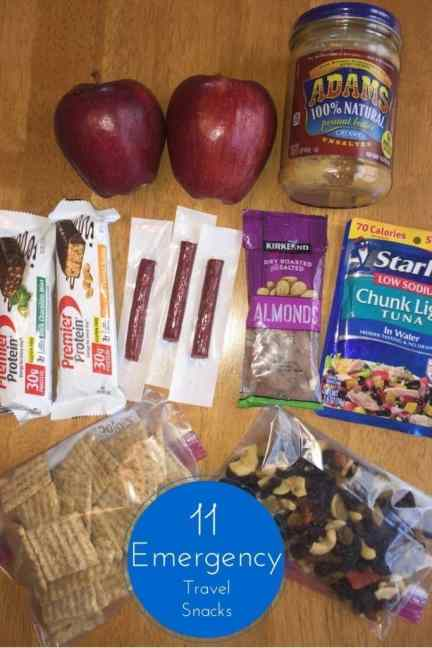 11 Emergency Travel snacks to take with you on a road trip