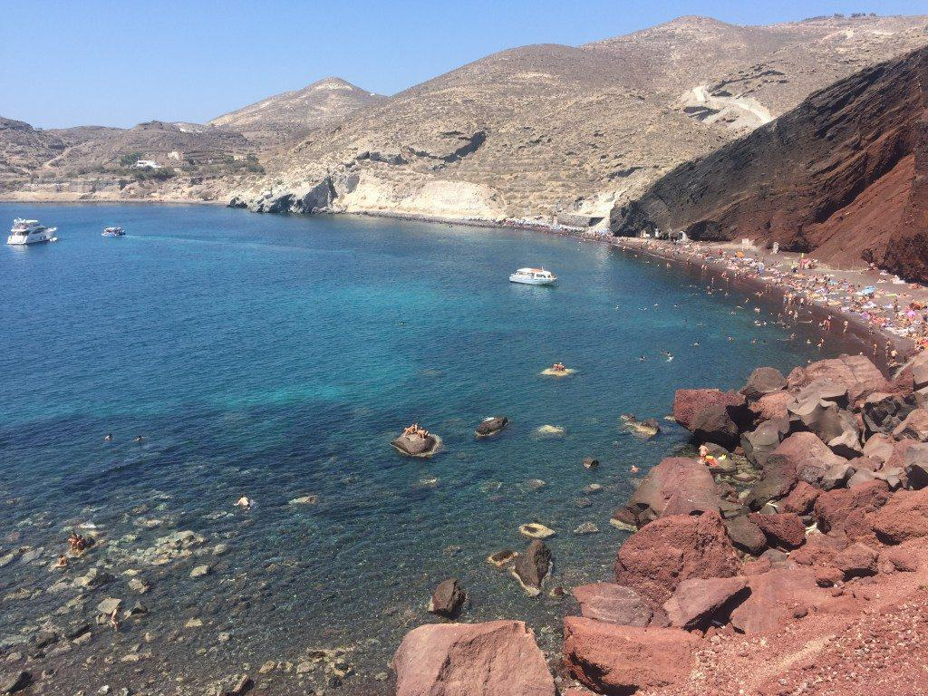 The Red Beach Best Santorini Beaches Mommy Travels