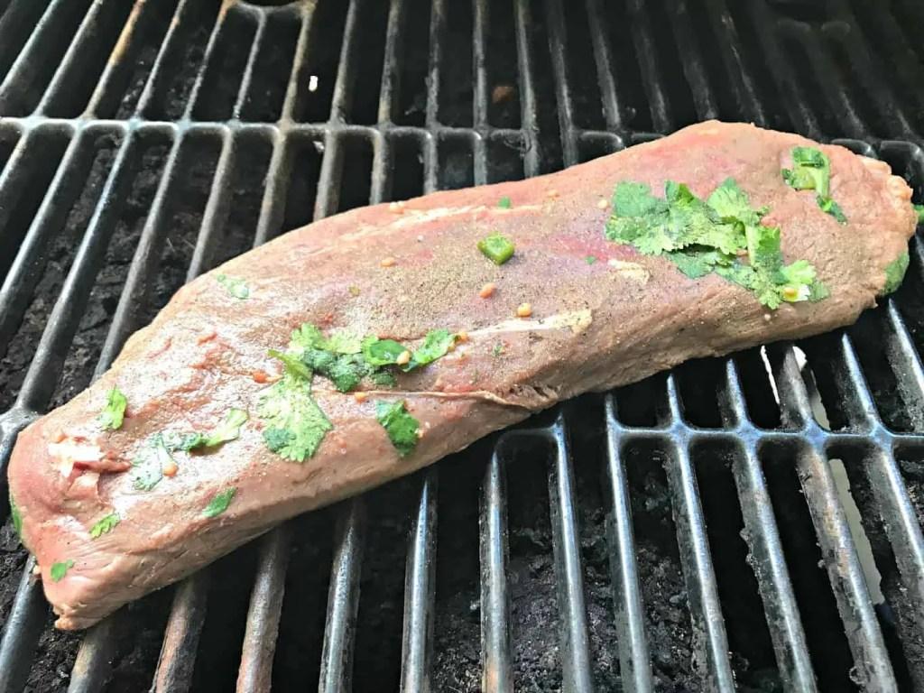 Carne asada made on a grill