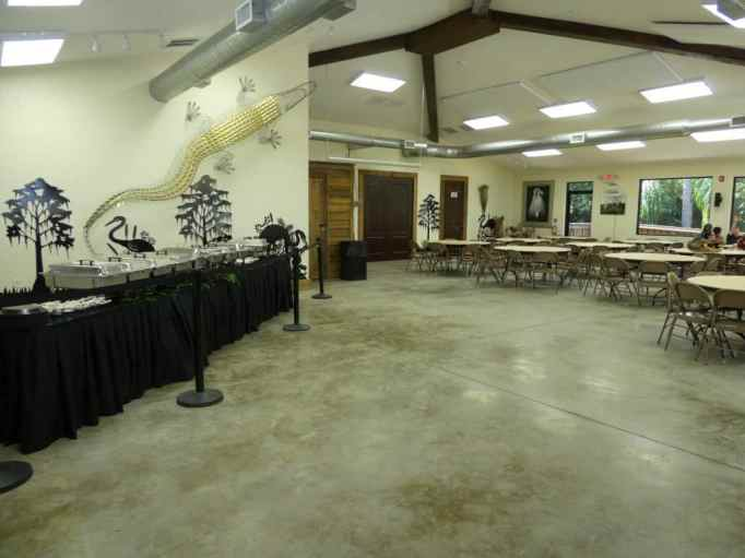 reception hall at Wild Florida