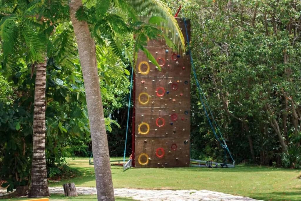 Rock climbing wall at Grand Velas Riviera Maya