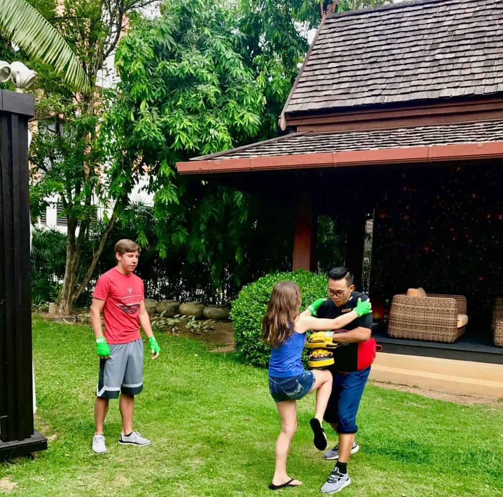 Thai Boxing lessons for families in Thailand