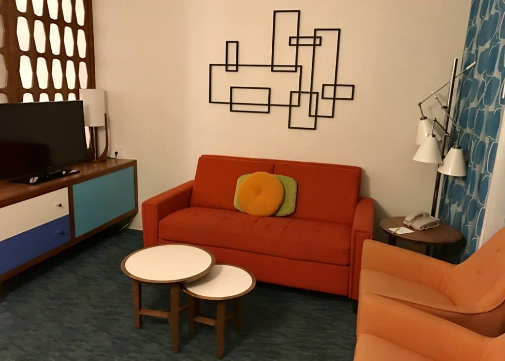 Living room at Cabana Cay Resort at Universal Orlando