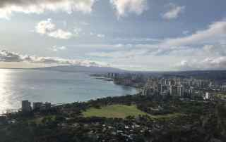 The view of Waikiki from Diamond Head