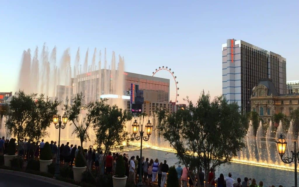 Bellagio Fountain in Las Vegas