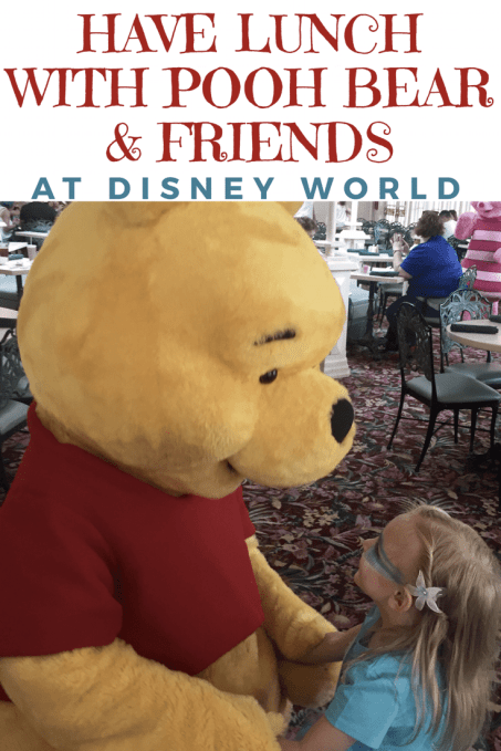 Have lunch with Pooh bear and friends at Disney World