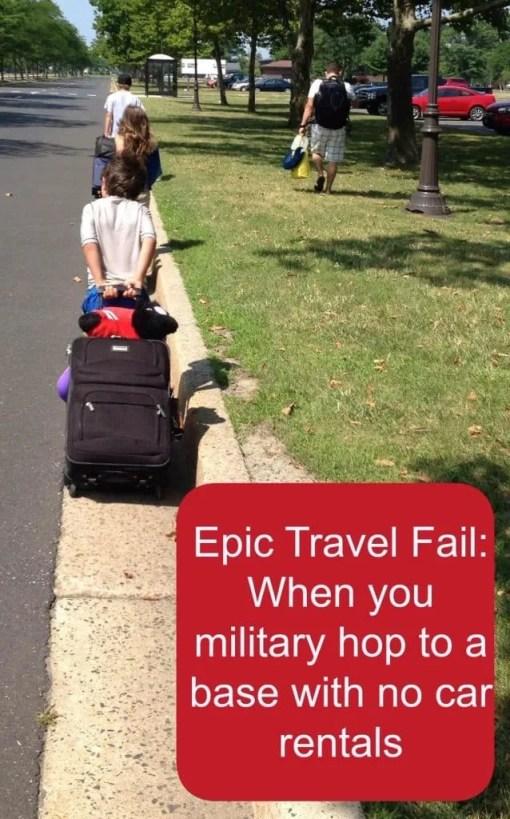 military travel fail
