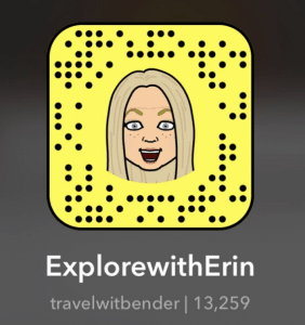 Explore with Erin on Snapchat