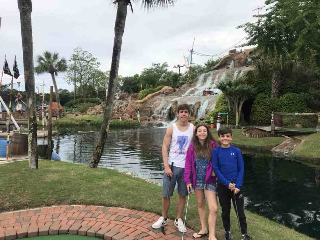mini golf at Pirate's Island Adventure