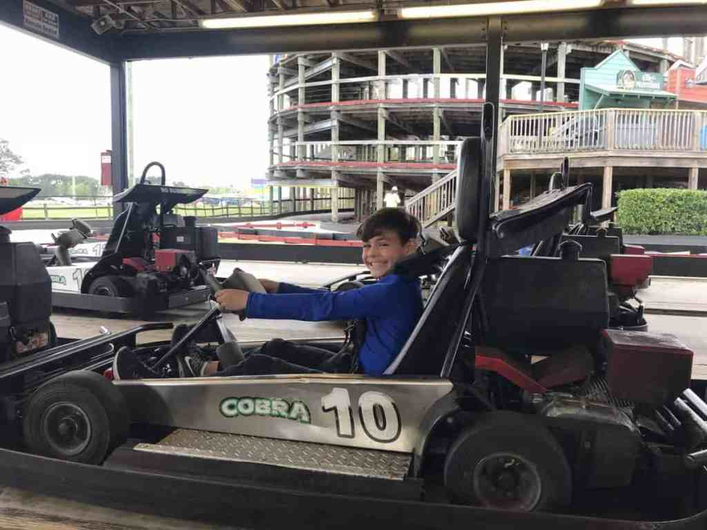 go karting at Cobra Adventure Park in Panama City Beach