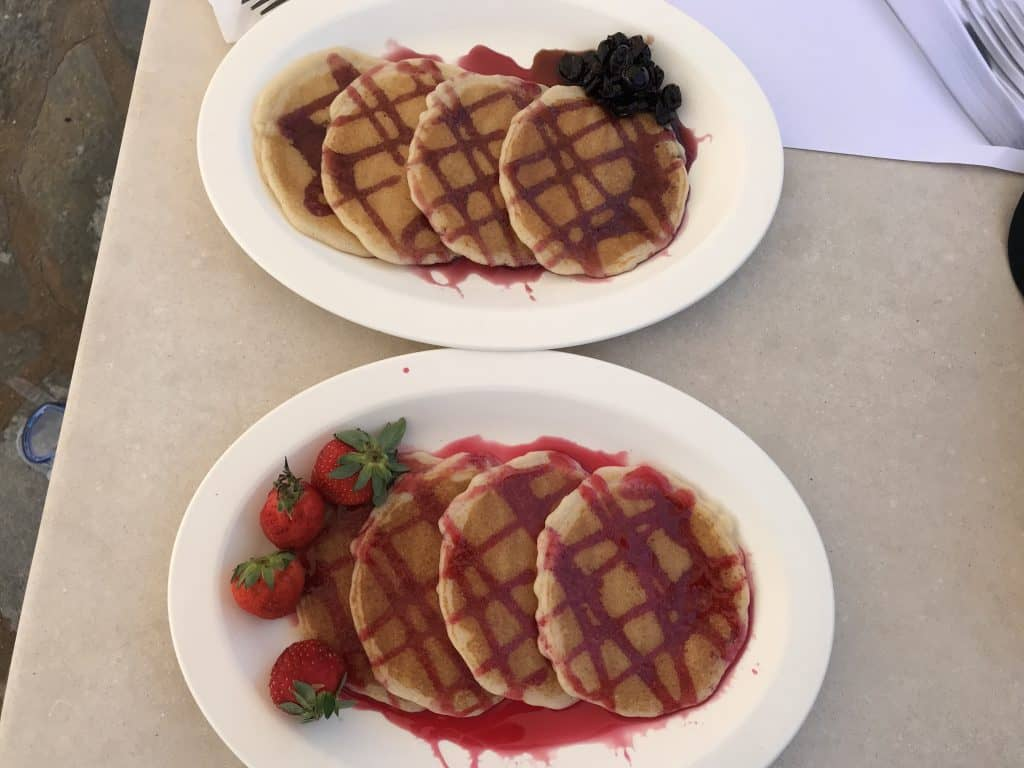 Pancakes at Agionissi Resort