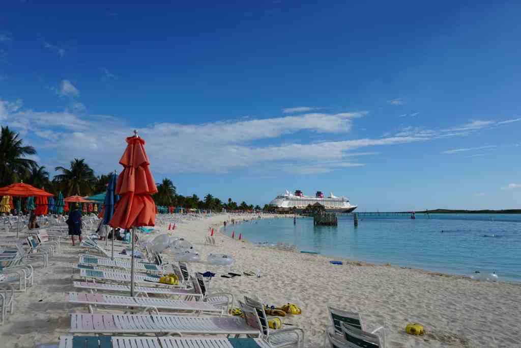 The beach at Castaway Cay