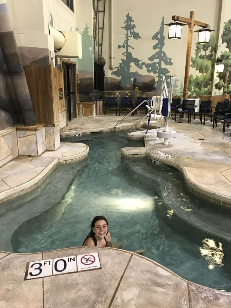 Great Wolf Lodge indoor/outdoor hot tub