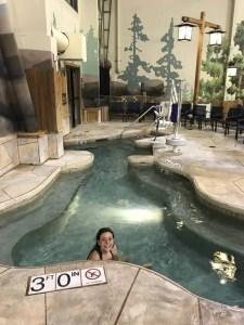 Great Wolf Lodge indoor/outdoor hot tub
