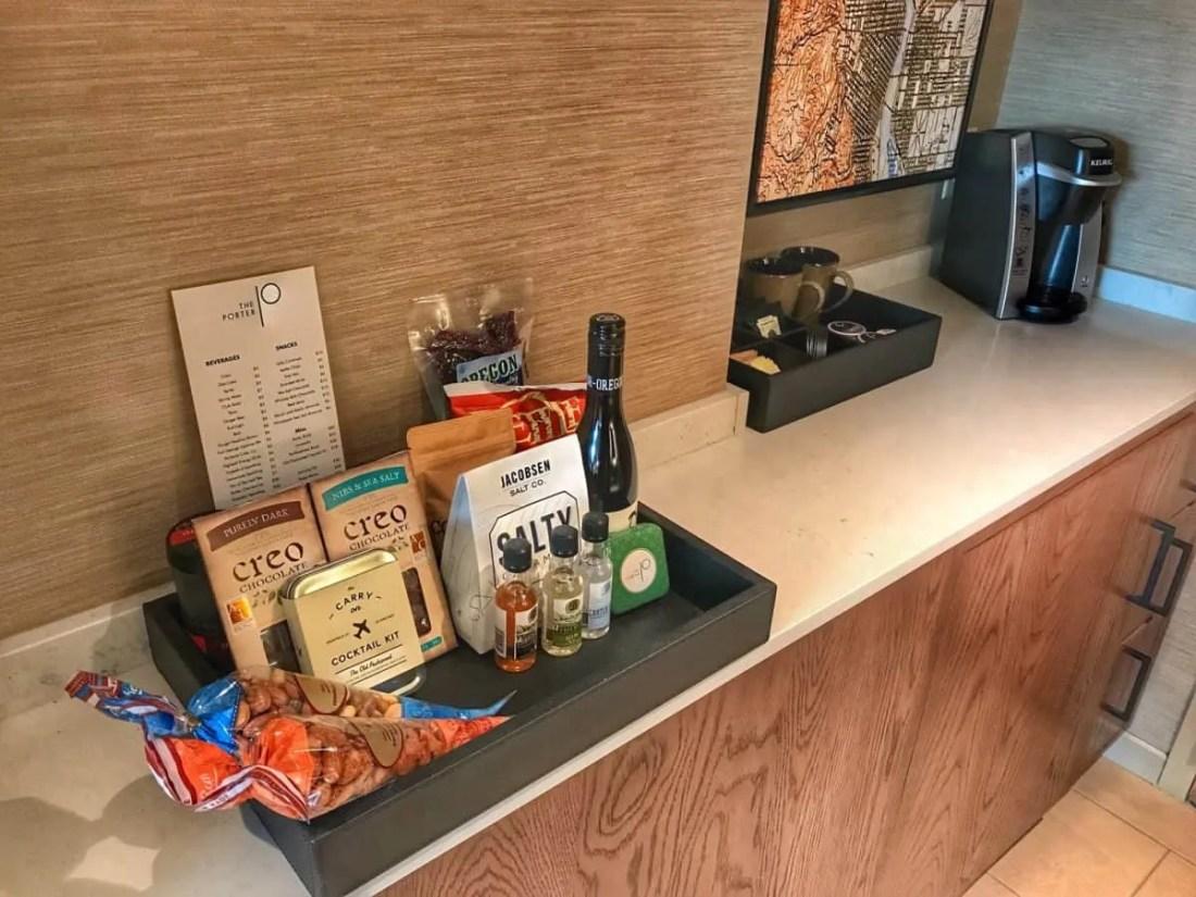 The Porter Hotel minibar
