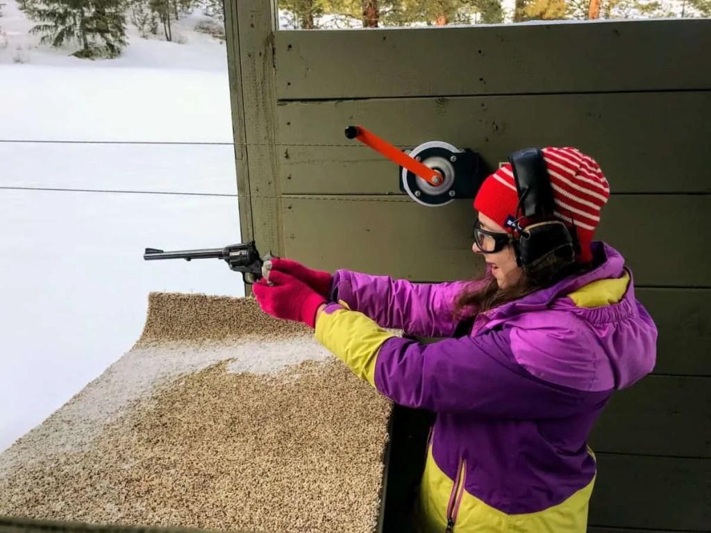 Shooting guns at Silvies