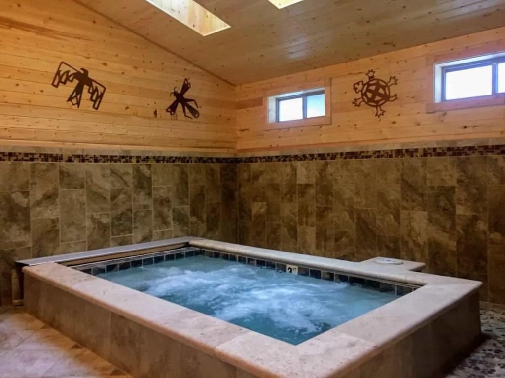 Hot tub at the spa at Silvies Valley Ranch