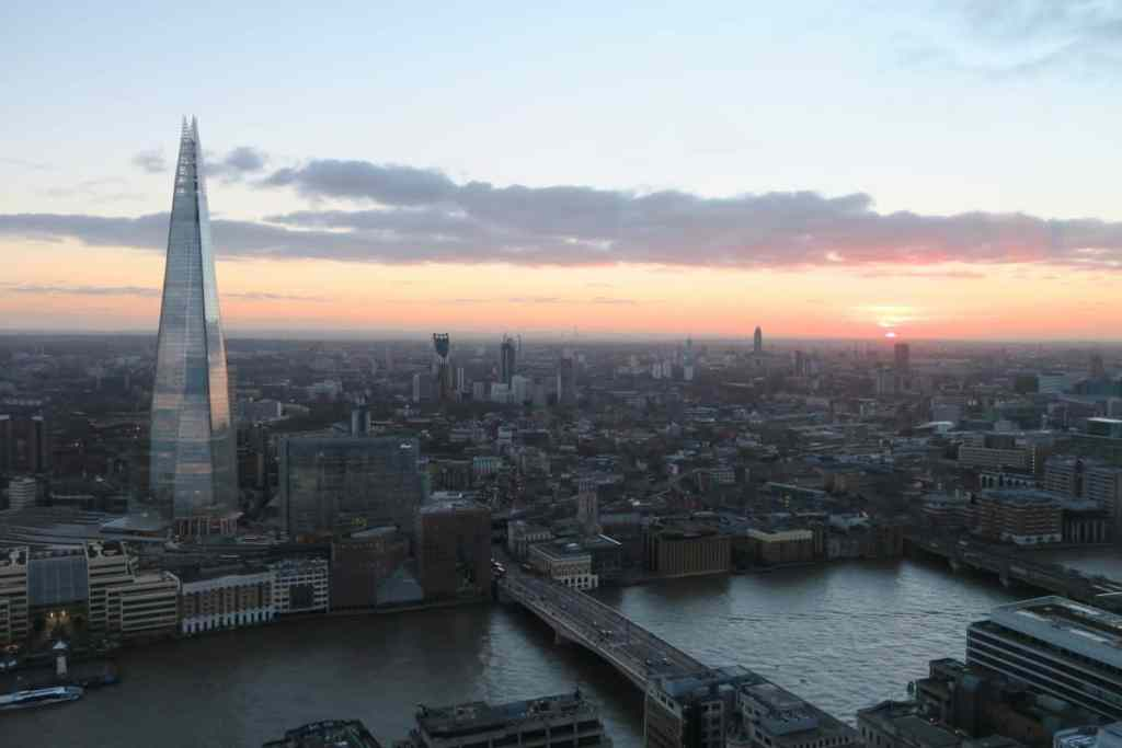 The view from Sky Garden