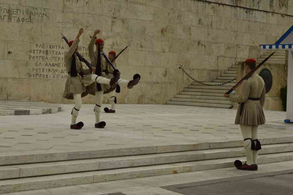Greek Parliament and changing of the Guard