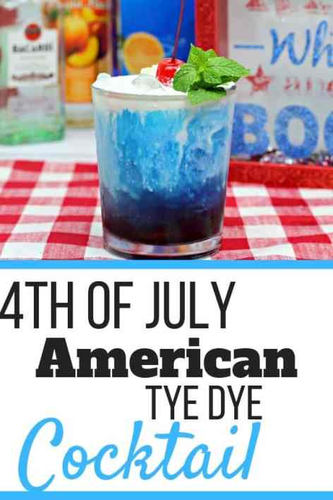 American Tye Dye, a 4th of July Cocktail