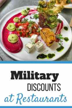 Military Discounts at Restaurants