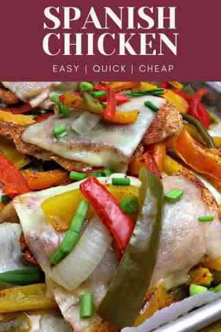 Spanish Chicken Sheet Pan Recipe - Weight Watchers
