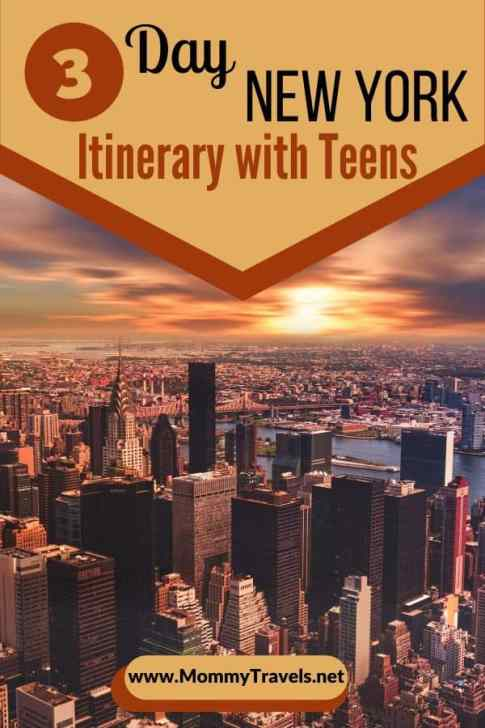 3 day New York City Itinerary with Teens