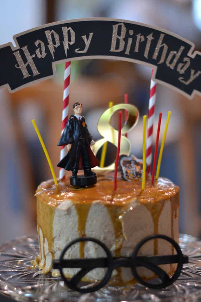 Harry Potter Birthday Butterbeer Cake