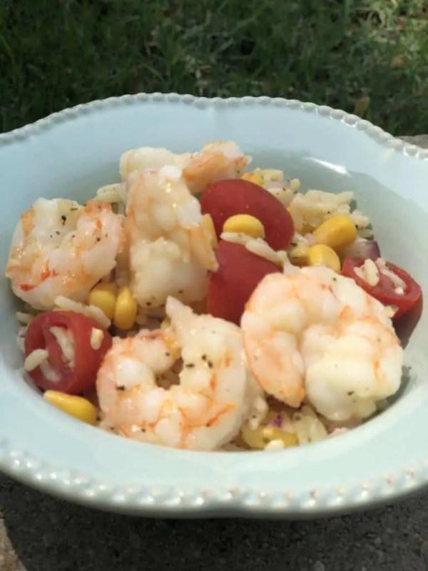 Shrimp & Cilantro Lime Rice Salad