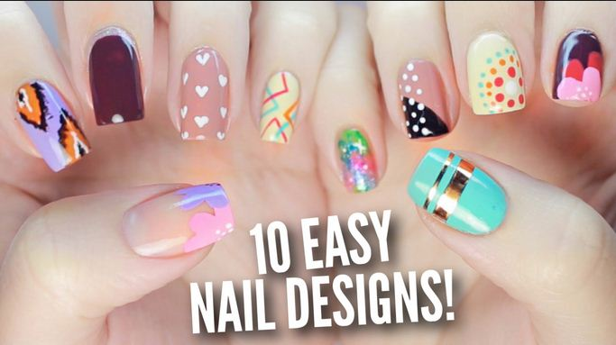 How To Create A Nail Art Design With Home Supplies Tutorial Video