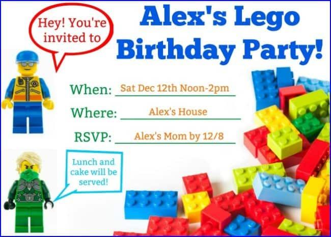 great ideas for a lego birthday party