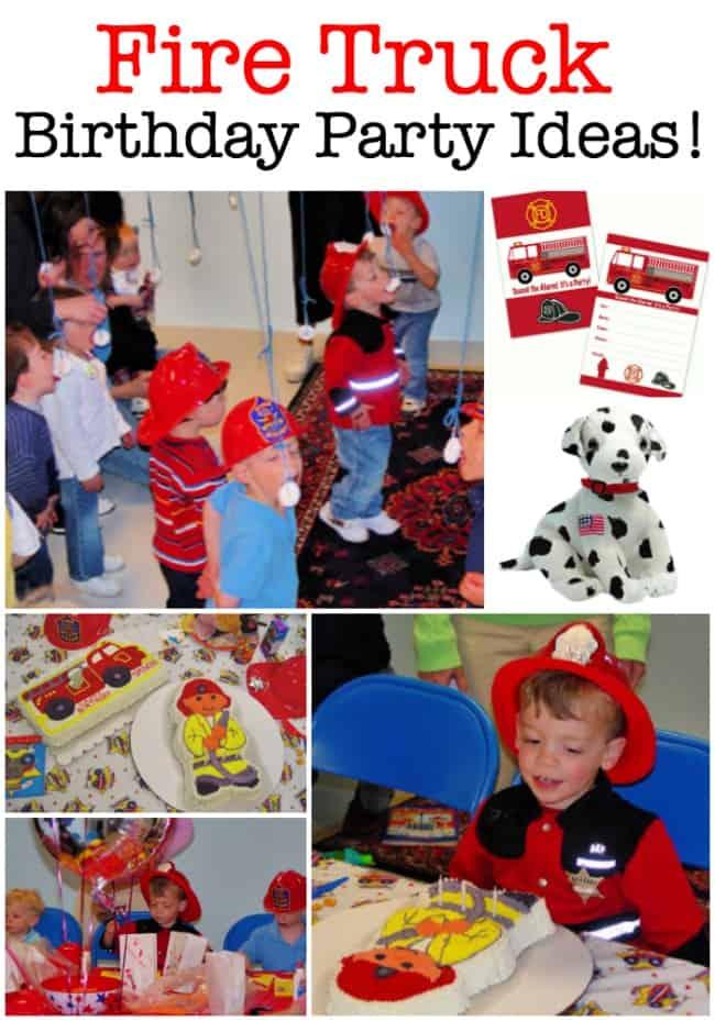 Fire Truck Birthday Party Ideas Momof6