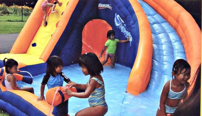 waterslide birthday party momof6
