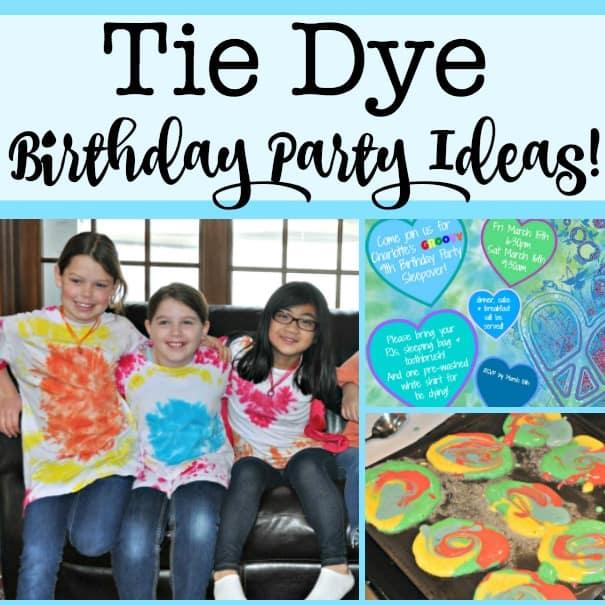 Tie Dye Birthday Party Ideas Momof6