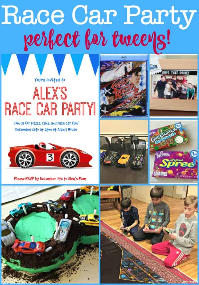 race car birthday party perfect for