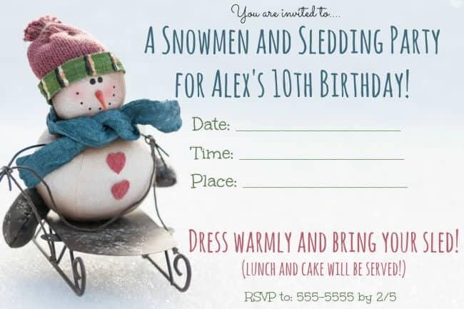 great winter birthday party ideas