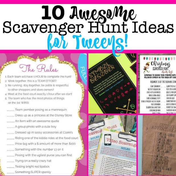 The Best Scavenger Hunt Ideas For Tweens Momof6