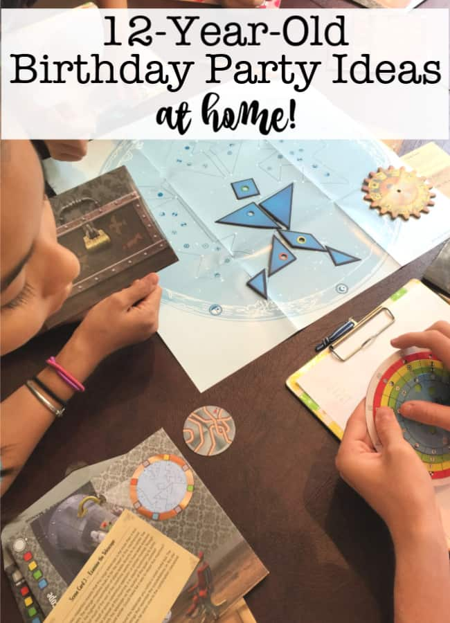 12 Year Old Birthday Party Ideas At Home Archives Momof6