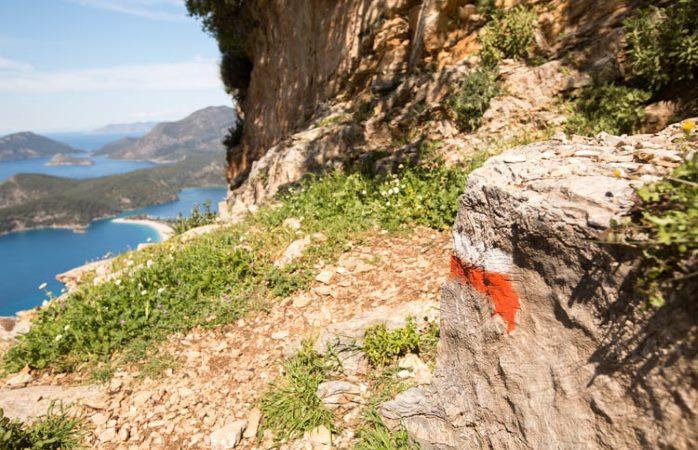 Likya yolu yürüyüşü- Likya yolu işaretleri