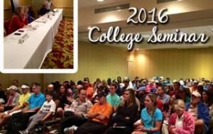 college prep seminar 2016, college golf