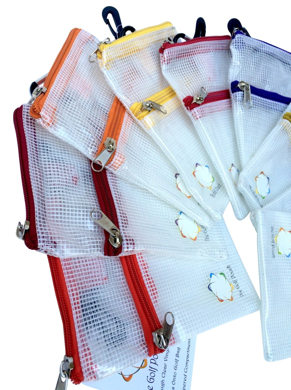 See Through Golf Pouch
