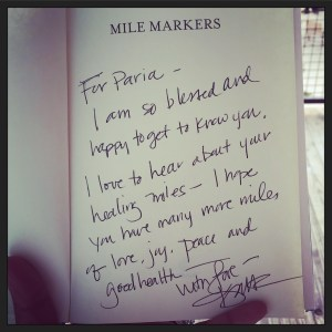 My signed Mile Markers book.