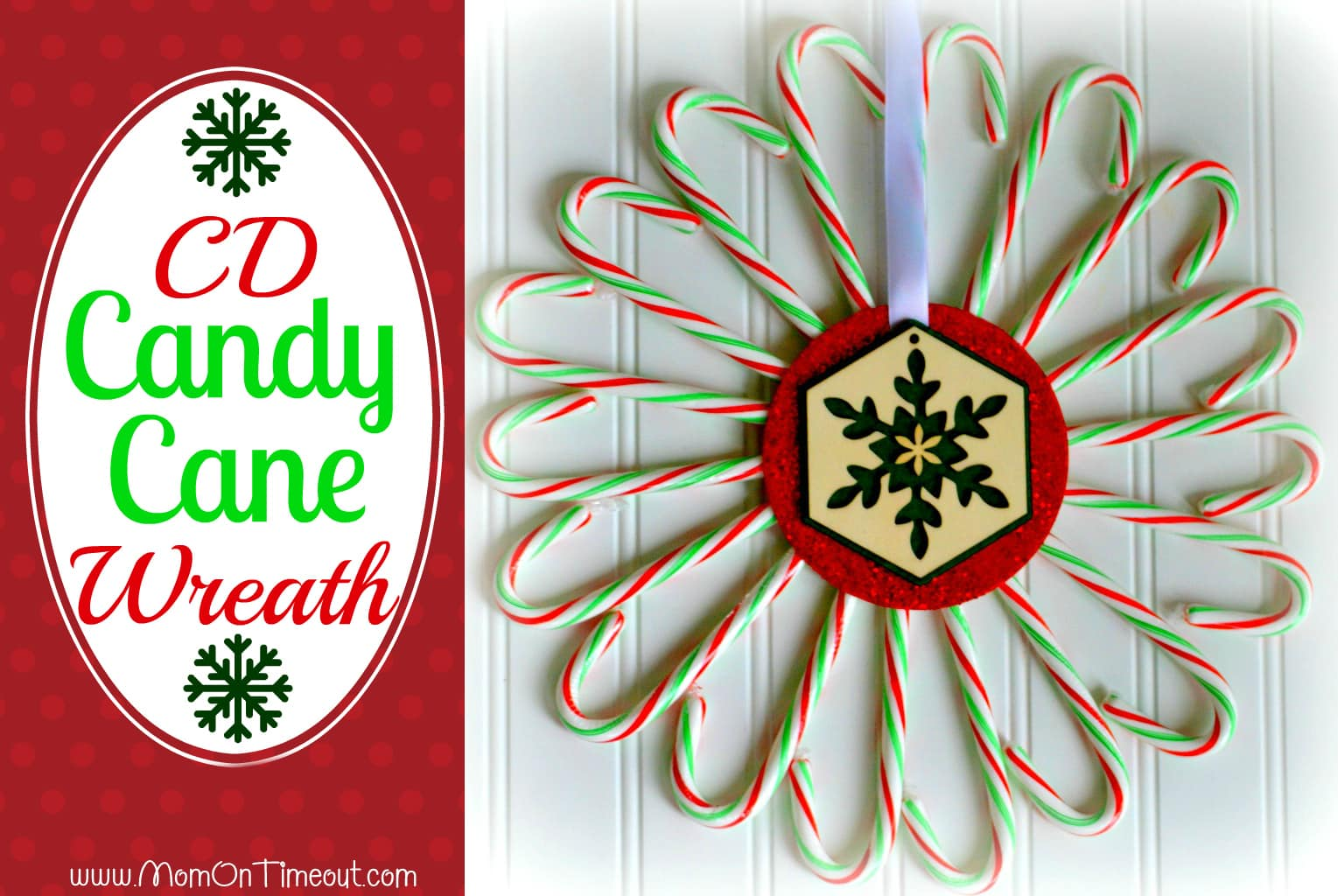 Candy Cane Cd Wreath