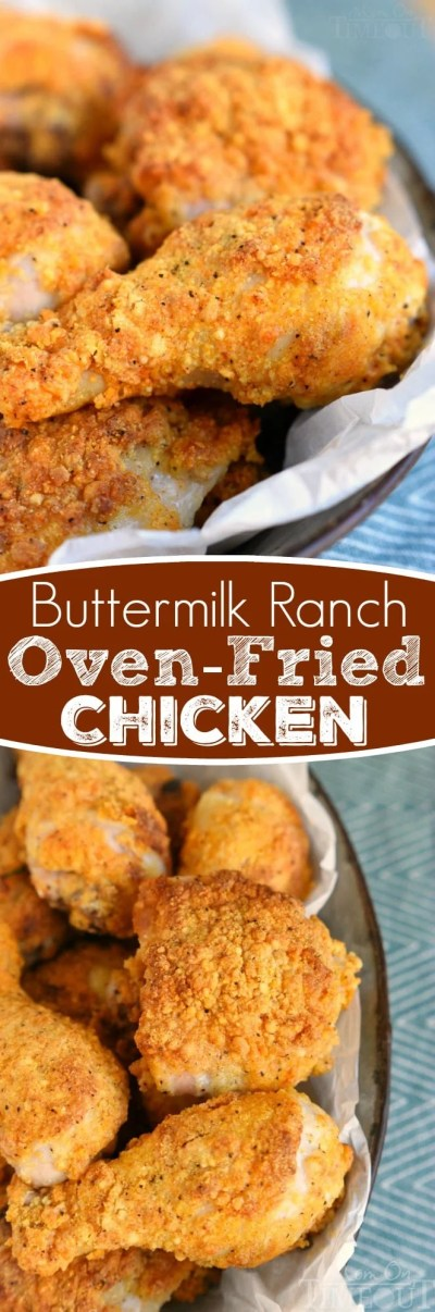 Buttermilk Ranch Oven Fried Chicken - Mom On Timeout