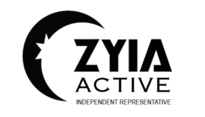 Zyia Active Independent Representative logo in black with white background.
