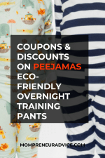 Peejamas coupon and discounts on reusable, eco-friendly overnight training pants