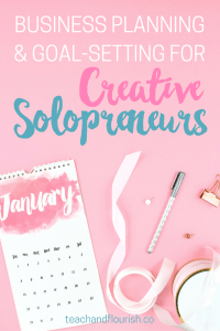 January Business Planning and Goal-Setting for Creative Solopreneurs